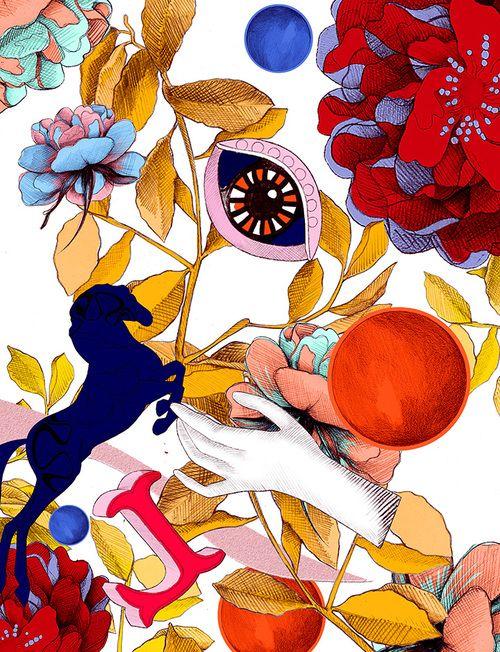 'Foliage' - Wallpaper print