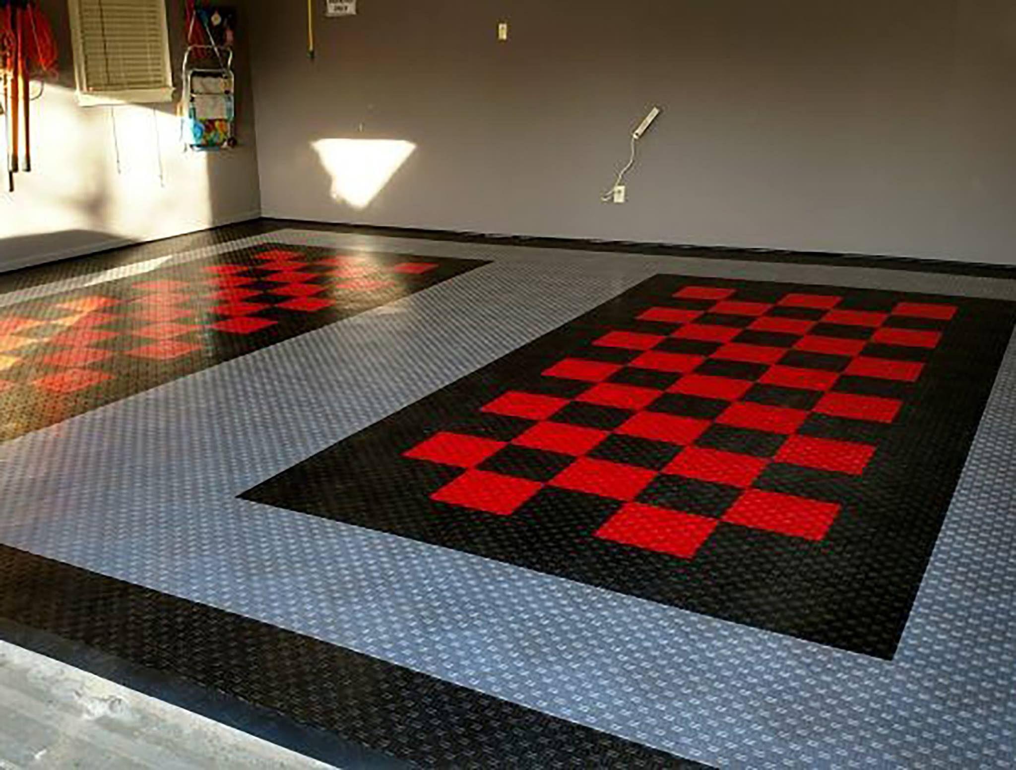 Garage Floor Tiles American Made Truelock Hd Racedeck Tile In 2020 Garage Floor Tiles Tile Floor Flooring