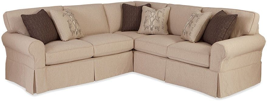 Nothing Says Casual Like A Great Slipcovered Sectional This One Features A True Removable S Sectional Sofa Slipcovers Sectional Sofa Leather Couch Sectional