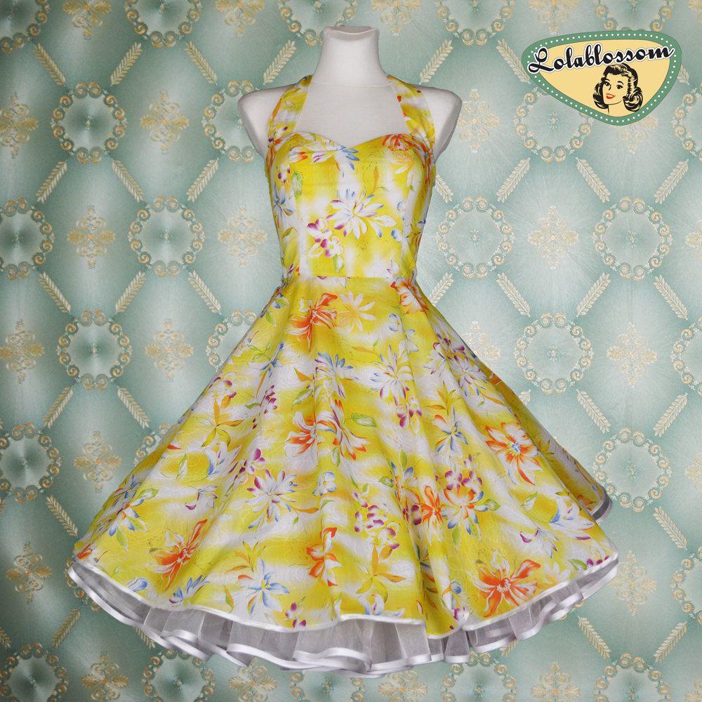Vintage Wedding Dresses Etsy: 50's Vintage Wedding Dress Hawaii Flower Yellow Cotton