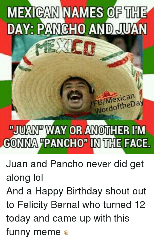 DAY PANCHO AND JUAN Mexican Wordoft Mexican words