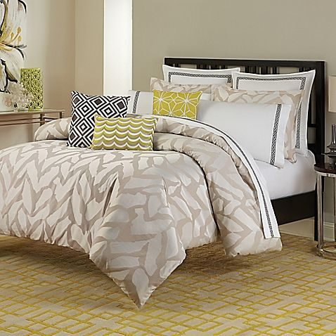 Bring Chic Sophistication To Your Bedroom With The Unique Trina Turk Giraffe Comforter Set Adorned An Allover Print In Mellow Shades Of Taupe