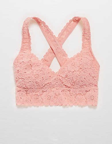 967c3ce1faf Aerie Lace Cross-Back Bralette