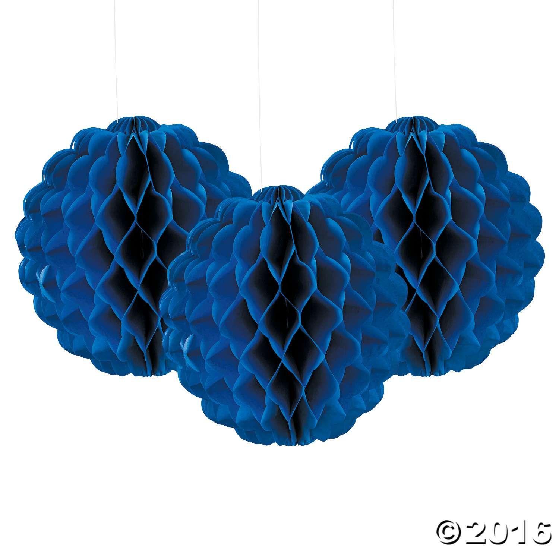 Blue themed wedding decor  Scalloped Blue Tissue Balls  Child Abuse AwarenessExchange Club