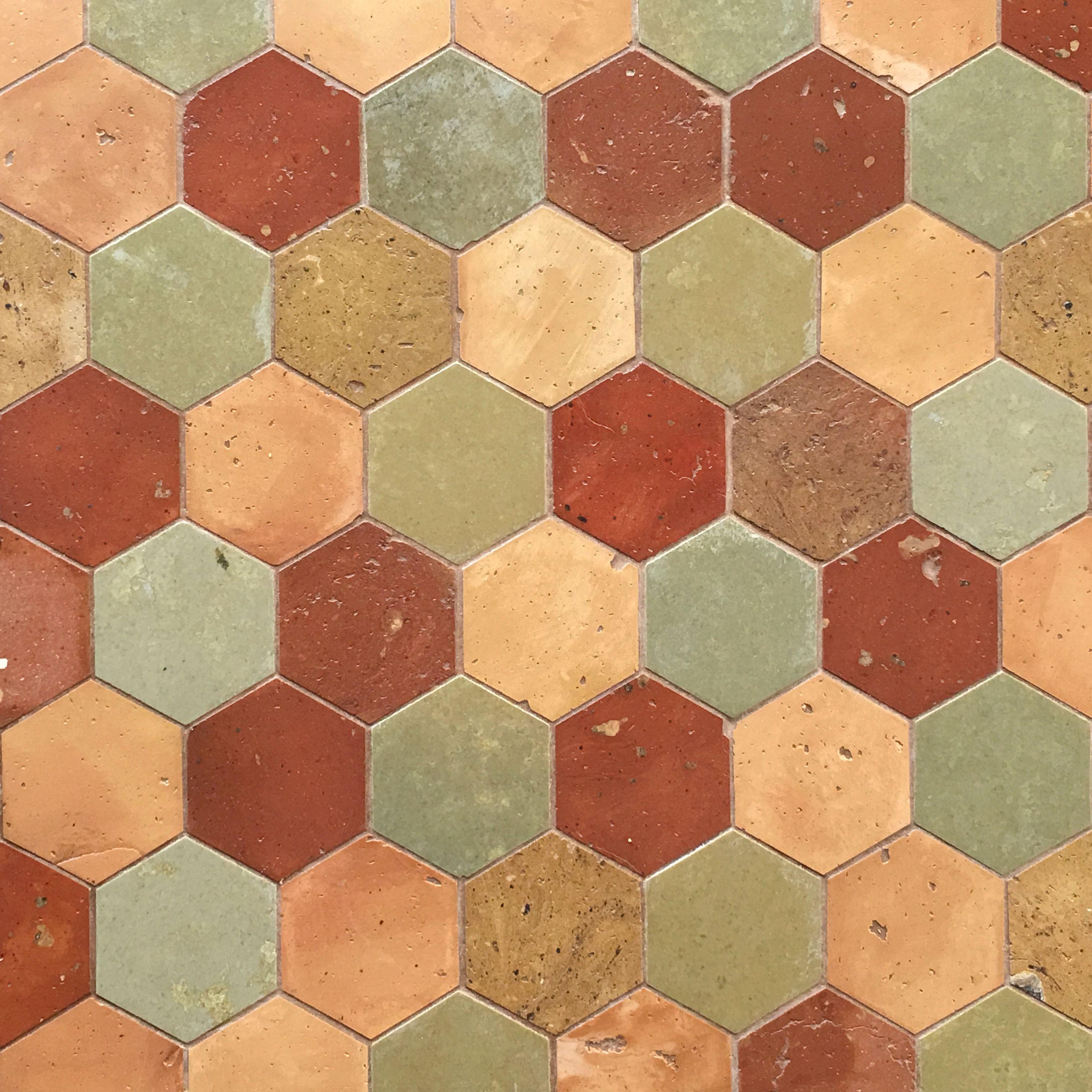 Terra cotta tile hexagon terra cotta and slate floor terra terra cotta tile hexagon terra cotta and slate floor doublecrazyfo Image collections
