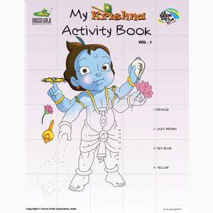 krishna coloring activity book vol 1 summer holiday fun
