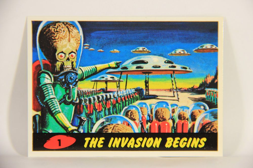 L007264 mars attacks 1994 trading card the invasion