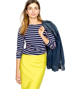 cb7701ca J. Crew Saint James Minquieres III Tee: J. Crew paired up with a French  company who has been making nautical wear in Normandy since the 1800s. Very  cool