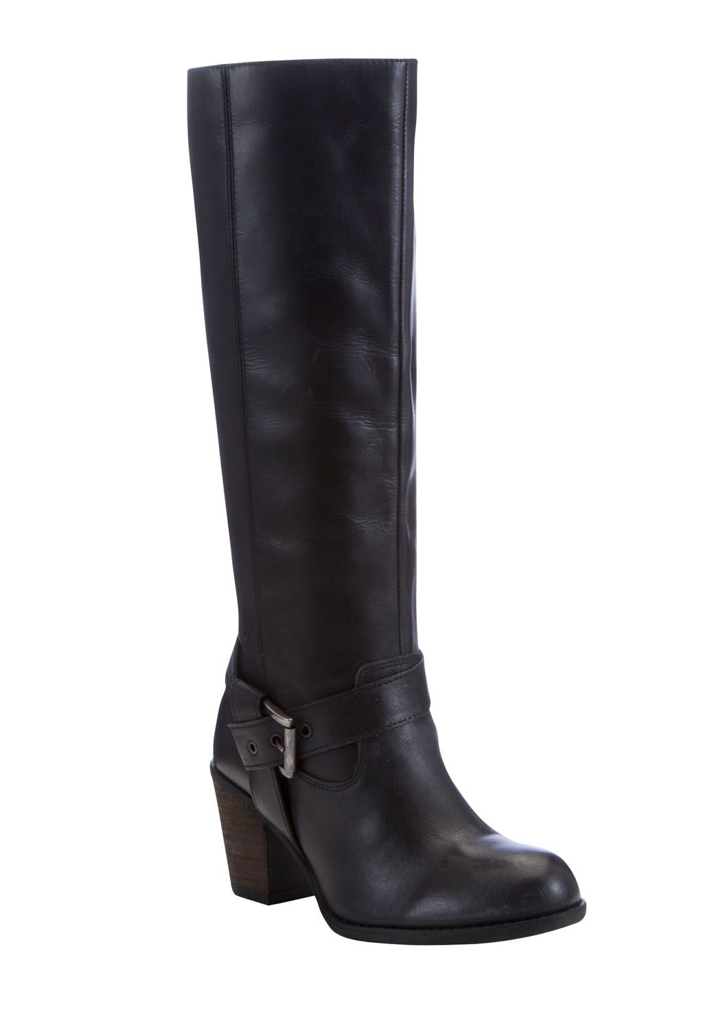 Details about  /Women/'s Western High Heel Biker Cowboy Goth Knee High Boots Patent Leather Boots