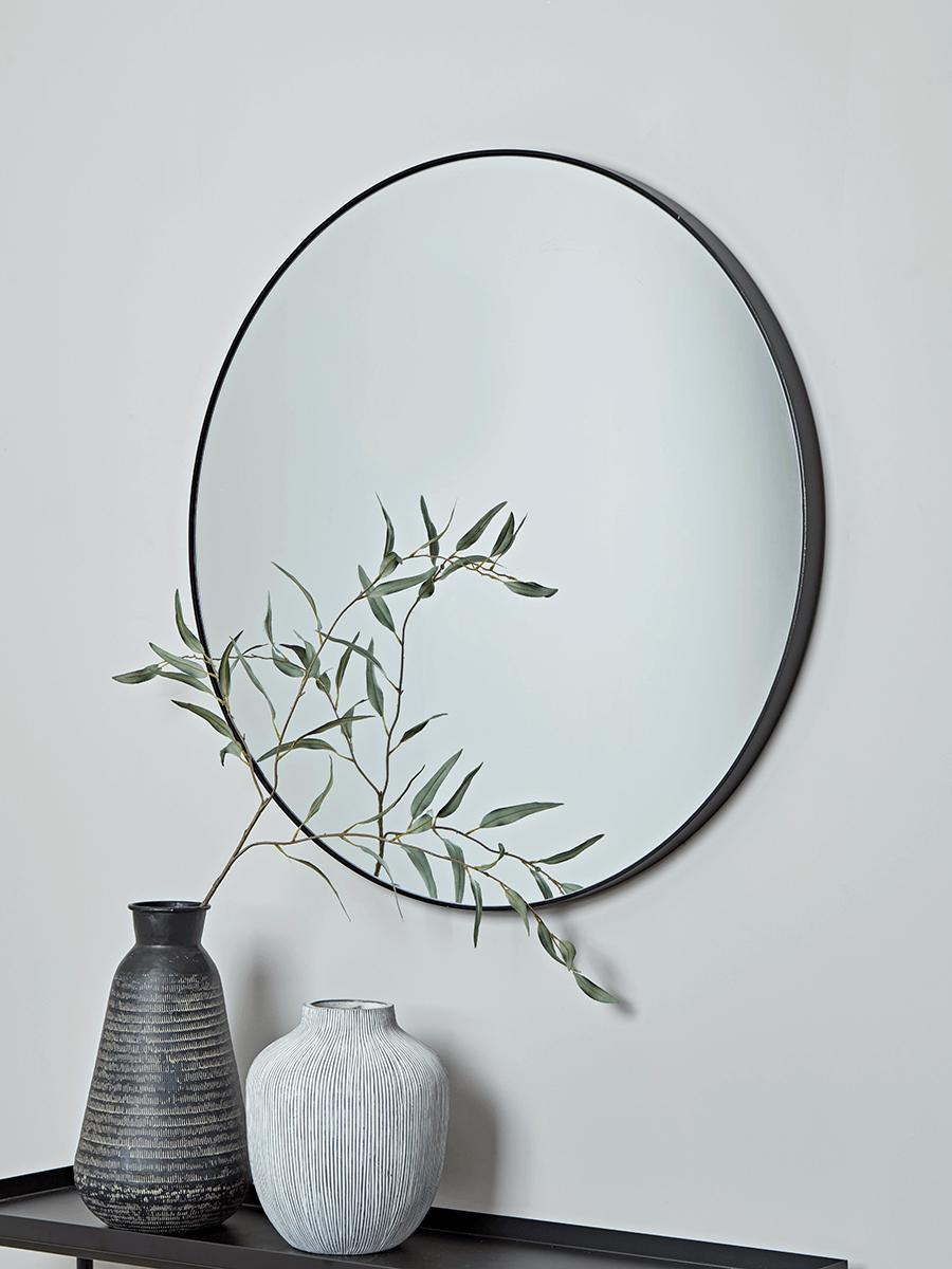 Oversized Frame Mirror Black Round Mirrors Black Round Mirror