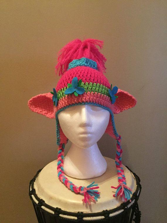 Crochet Poppy Troll Inspired Hat   Pinterest