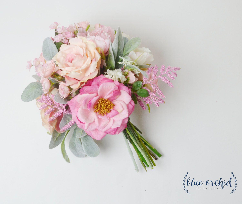 Wedding Bouquet, Peony Bouquet, Boho Bouquet, Pink Bouquet, Bridal ...
