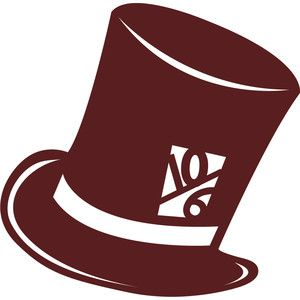 Silhouette Design Store Mad Hatters Top Hat Mad Hatter Scrapbook Disney Silhouettes Mad Hatter Top Hat