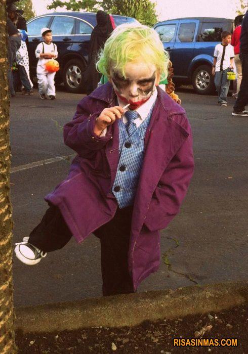 Disfraces de ni o joker de batman risa sin m s poma - Disfraz joker casero ...