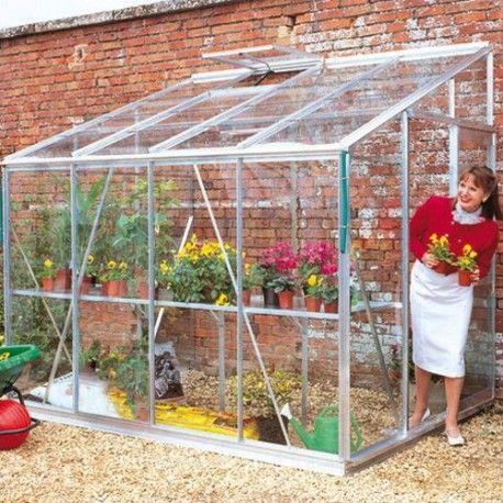 Serre de jardin 4,85m² alu et verre horticole Royal 608 + ...
