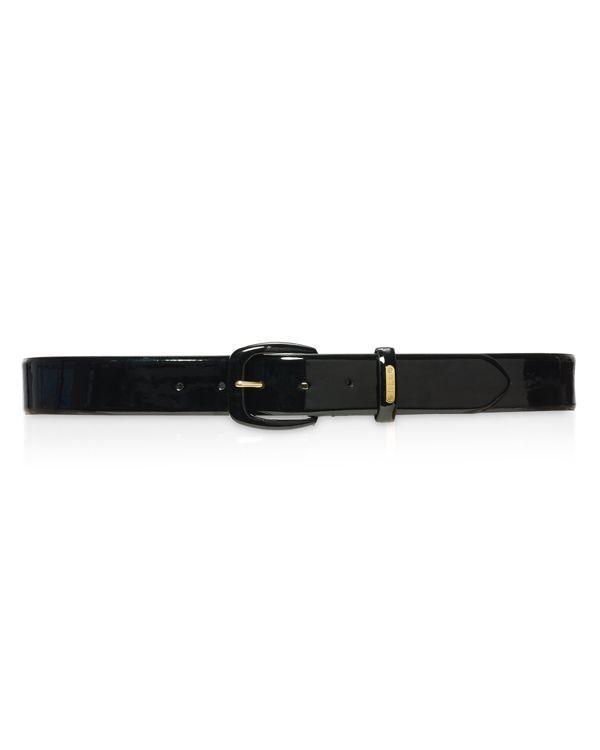 Lauren Ralph Lauren Patent Covered Buckle Belt
