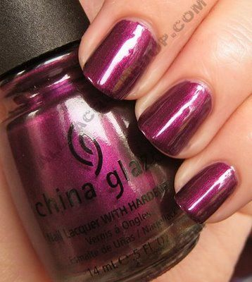 Glaze Retro Diva Review & Swatches china glaze stella retro diva nail polish China Glaze Retro Diva Review  Swatches- Stella is a deep magenta, shimmer. You could call it berry it just has a blackened magenta feel to me because of the hint of pink the light picks ina glaze stella retro diva nail polish China Glaze Retro Diva Review  Swatches- Stella is a deep ...