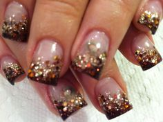 shellac nails leaves designs - Google Search