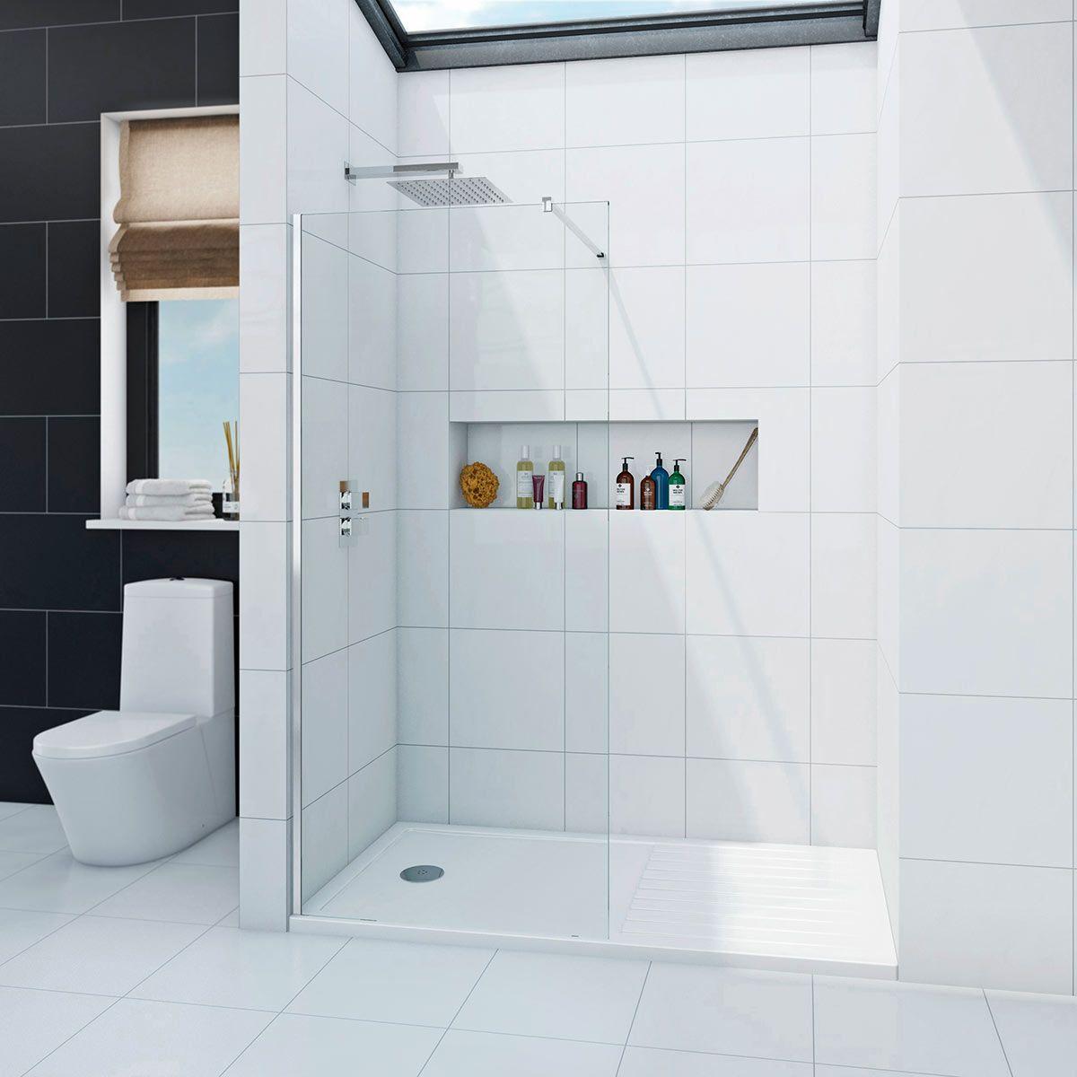 Awesome Walk In Shower Glass Panel Embellishment - Bathtub Ideas ...