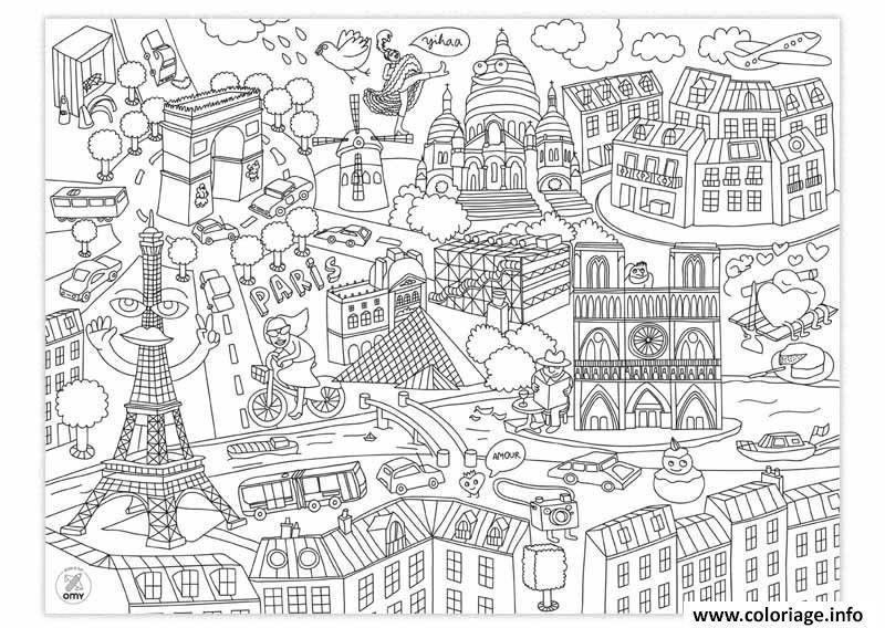 Coloriage Ville De Paris Coloriage Ville Coloriage France Coloriage Tour Eiffel