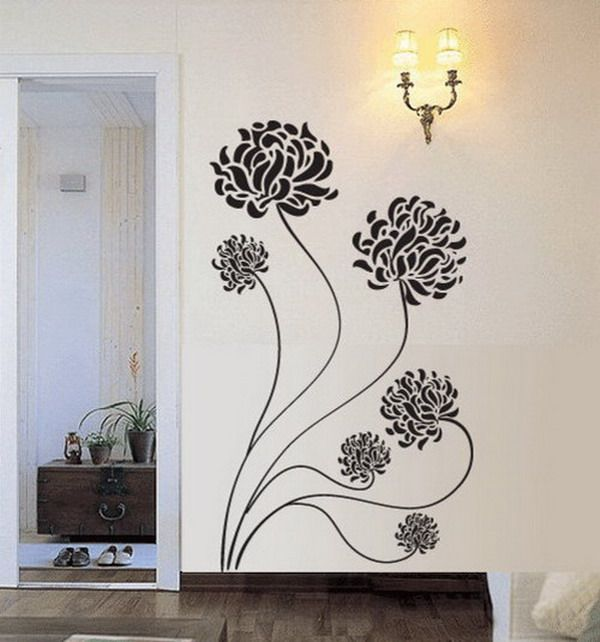 Beauty Flowers Decals Living Room Design Beautiful Flowers