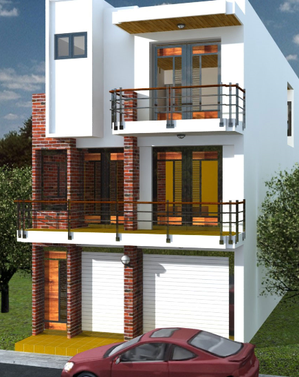 Small House 100 Meters Square Duplex House Design Home