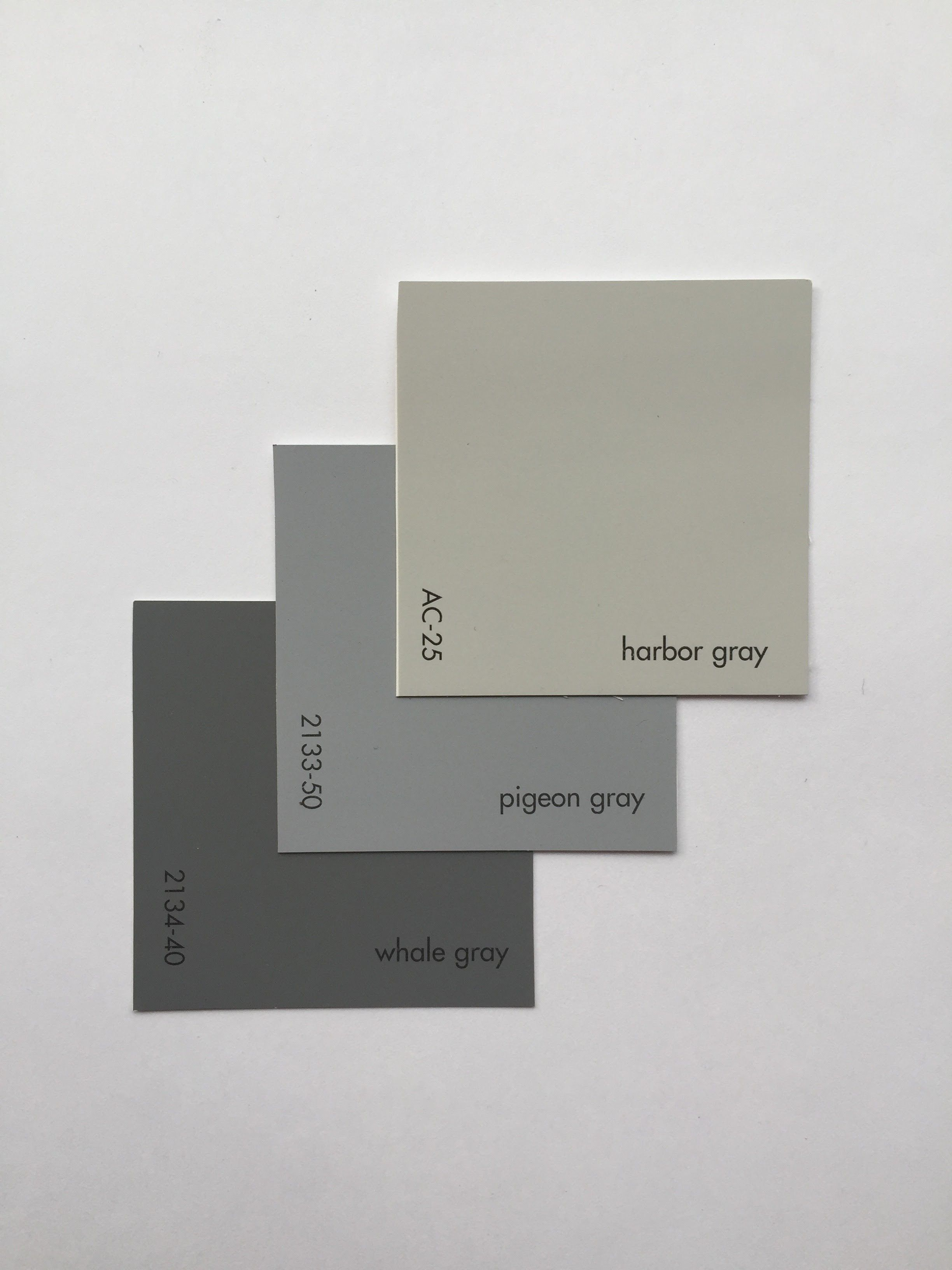 HARBOR GRAY AC 25 PIGEON GRAY 2133 50 WHALE GRAY 2134 40