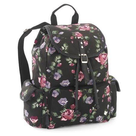 No Boundaries 18 Quot Printed Canvas Buckle Flap Backpack