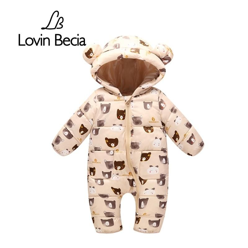 UK Baby Boys Girls Winter Warm Hoodies Romper Toddler Jumpsuit Playsuit Outfits