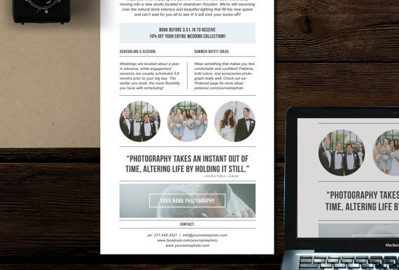 Photography Newsletter Template For Email Pinterest Wedding