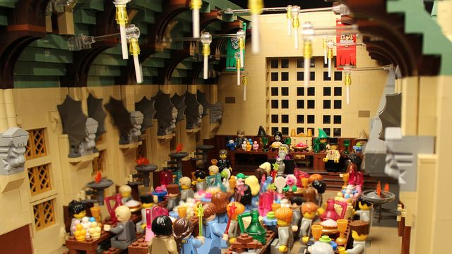 The Great Hall in 400,000-Brick LEGO Hogwarts Diorama #HarryPotter