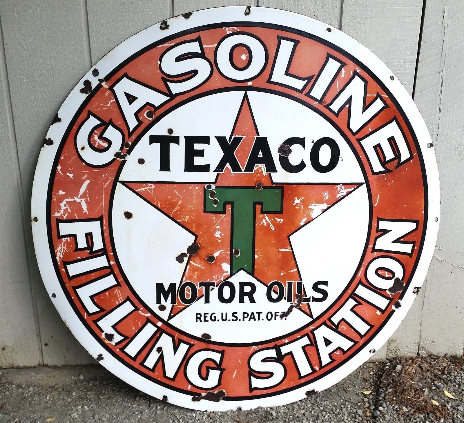 FREE ship on 10 signs Red Crown Motor Oil Gas gasoline sign .