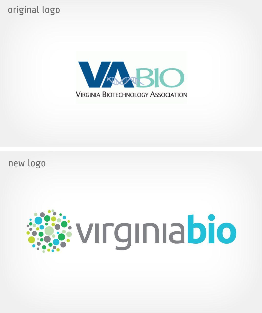 Biotech association logo redesign for virginia biorebrand