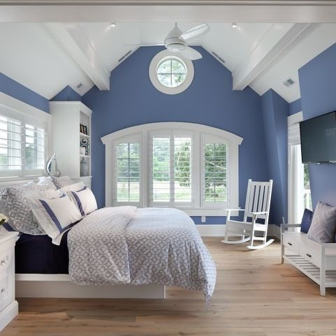 blue and white design ideas pictures remodel and decor - Blue And White Bedroom Designs