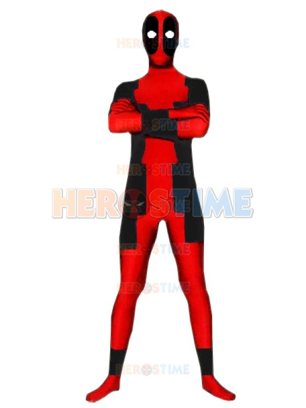 red and black deadpool costume … | stuff to make | Pinte…