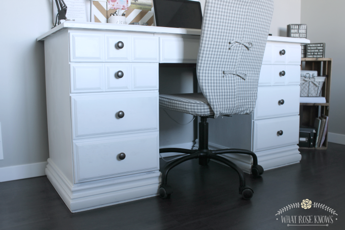 Desk Makeover With Menards Chalk Paint