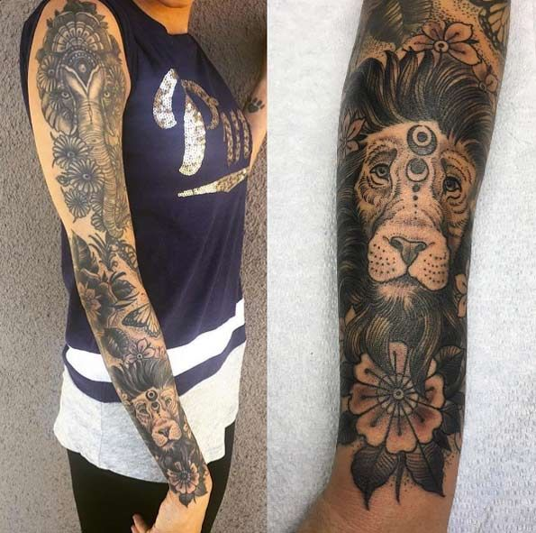 40 Attractive Sleeve Tattoos For Women Tatt Sleeve Tattoos For