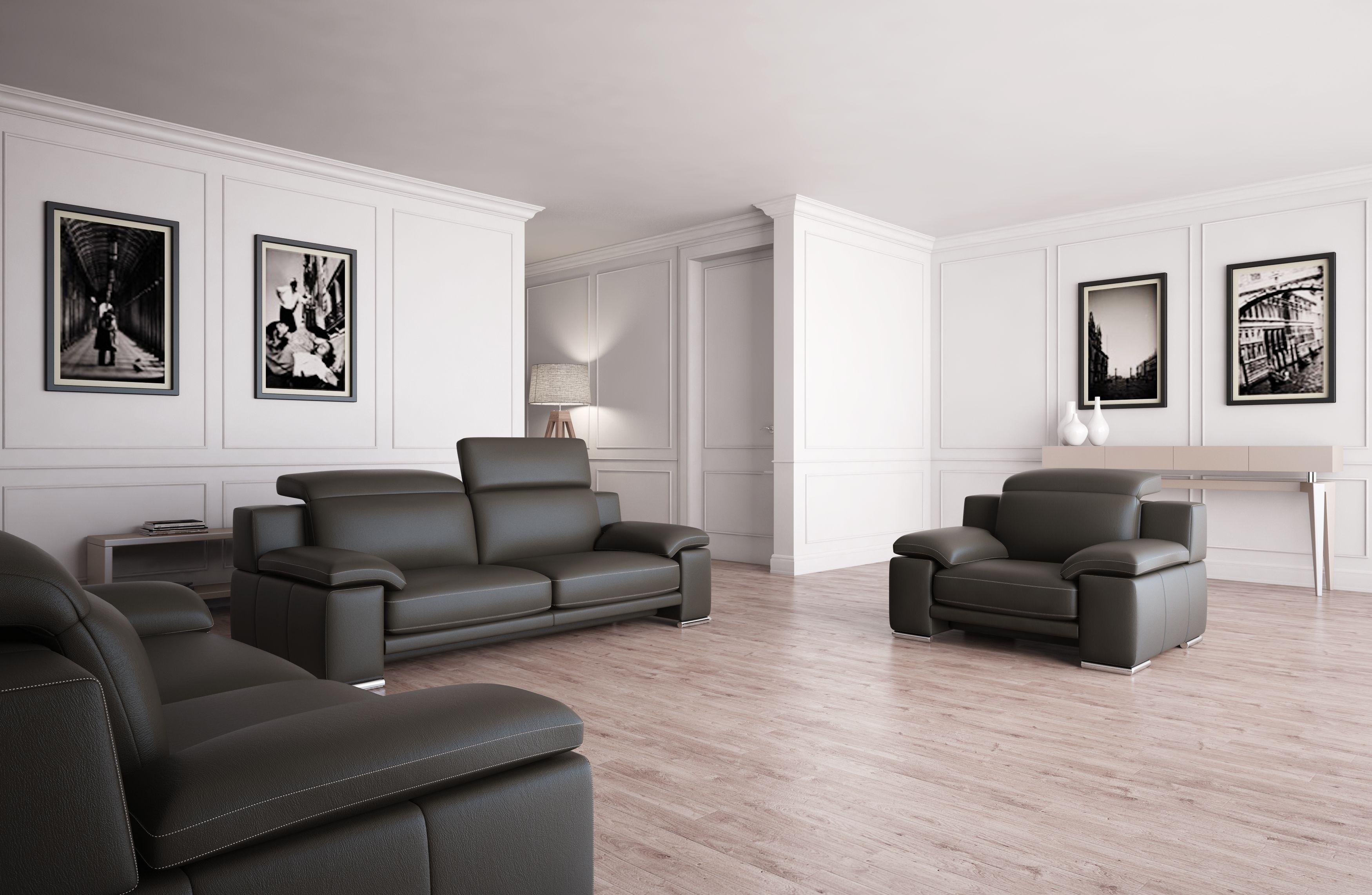 Versace wohnzimmer ~ Modern leather sofa set furniture in beige $2320 features