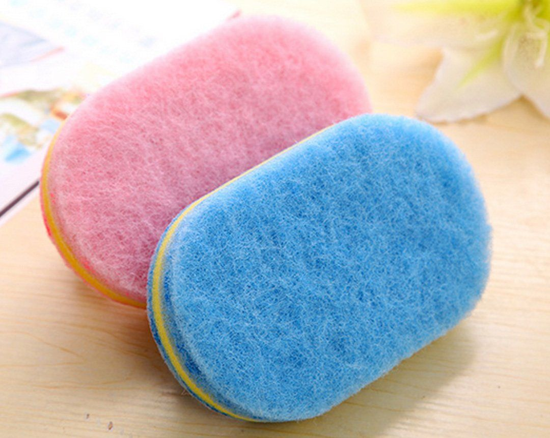 Brush Kitchen Wall Glass Cleaning Sponge Tile Cleaner Handle Bathtub Bathroom