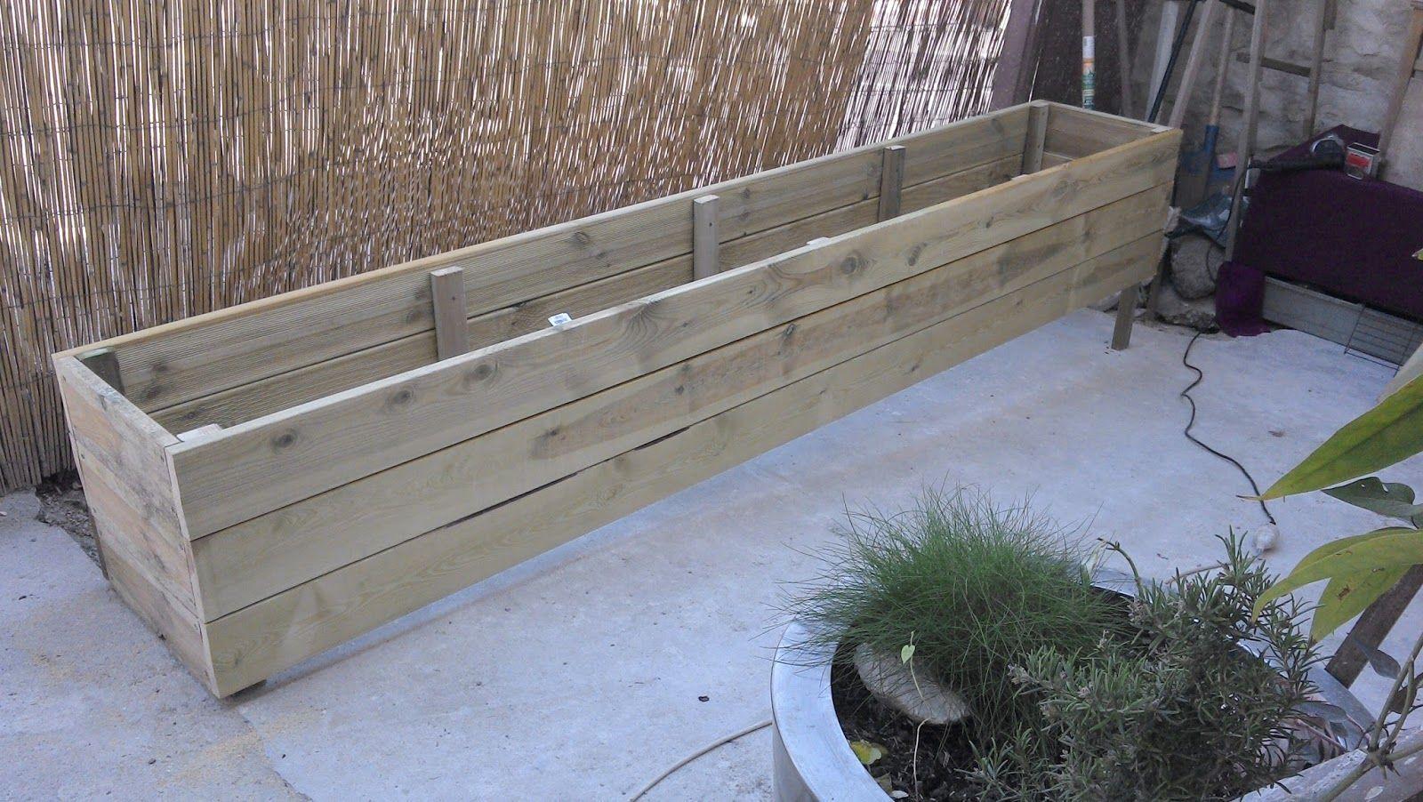 fabriquer des jardinières en bois   patio   pinterest   jardinière