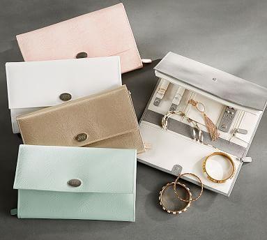 Personalized Mckenna Leather Travel Jewelry Portfolio