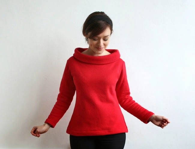 Snuggly sweatshirt Coco top - Tilly and the Buttons sewing pattern ...