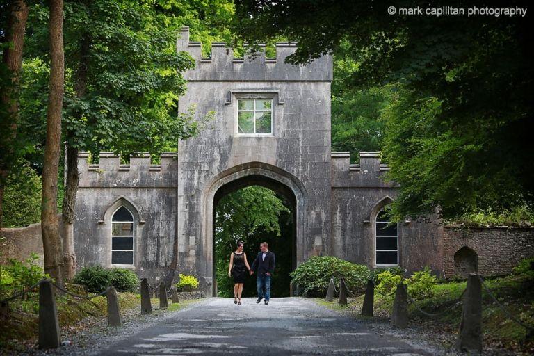 Engagement shoot on the grounds of Markree Castle wedding photographer sligo