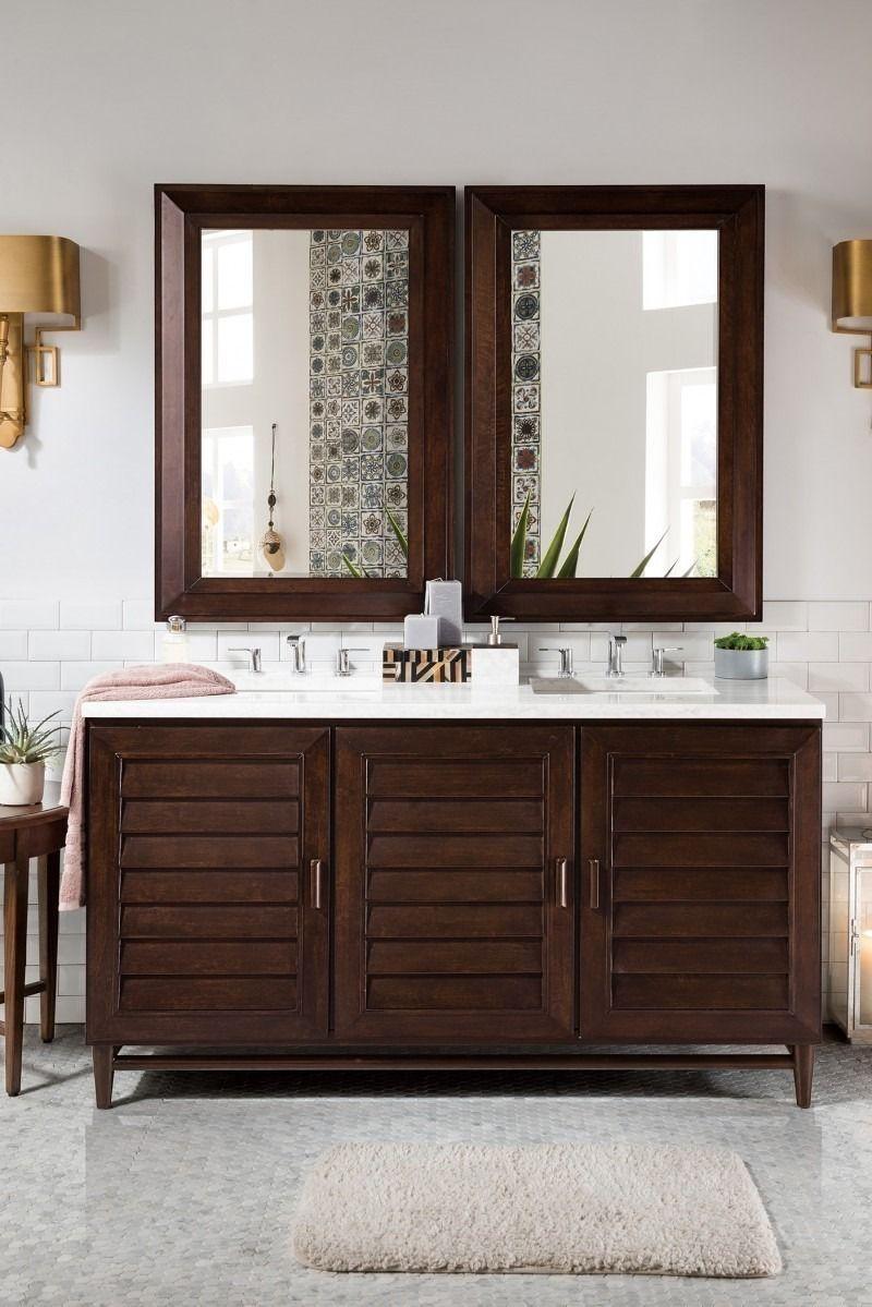 portland 60 double sink bathroom vanity cabinet burnished rh pinterest co uk Craftsman Style Bathroom Vanity Cabinets Wood Bathroom Vanity Cabinets