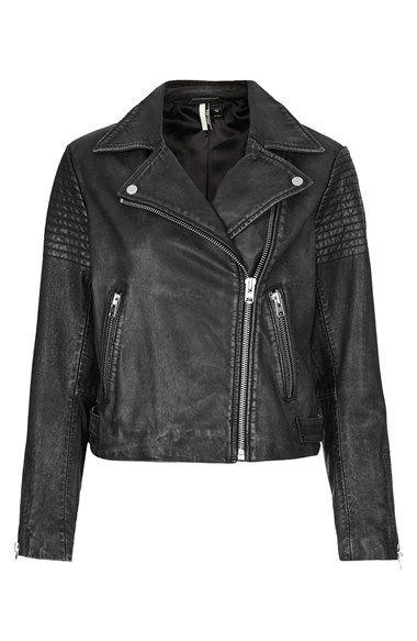 Topshop Sheepskin Leather Biker Jacket | Personal Style ...