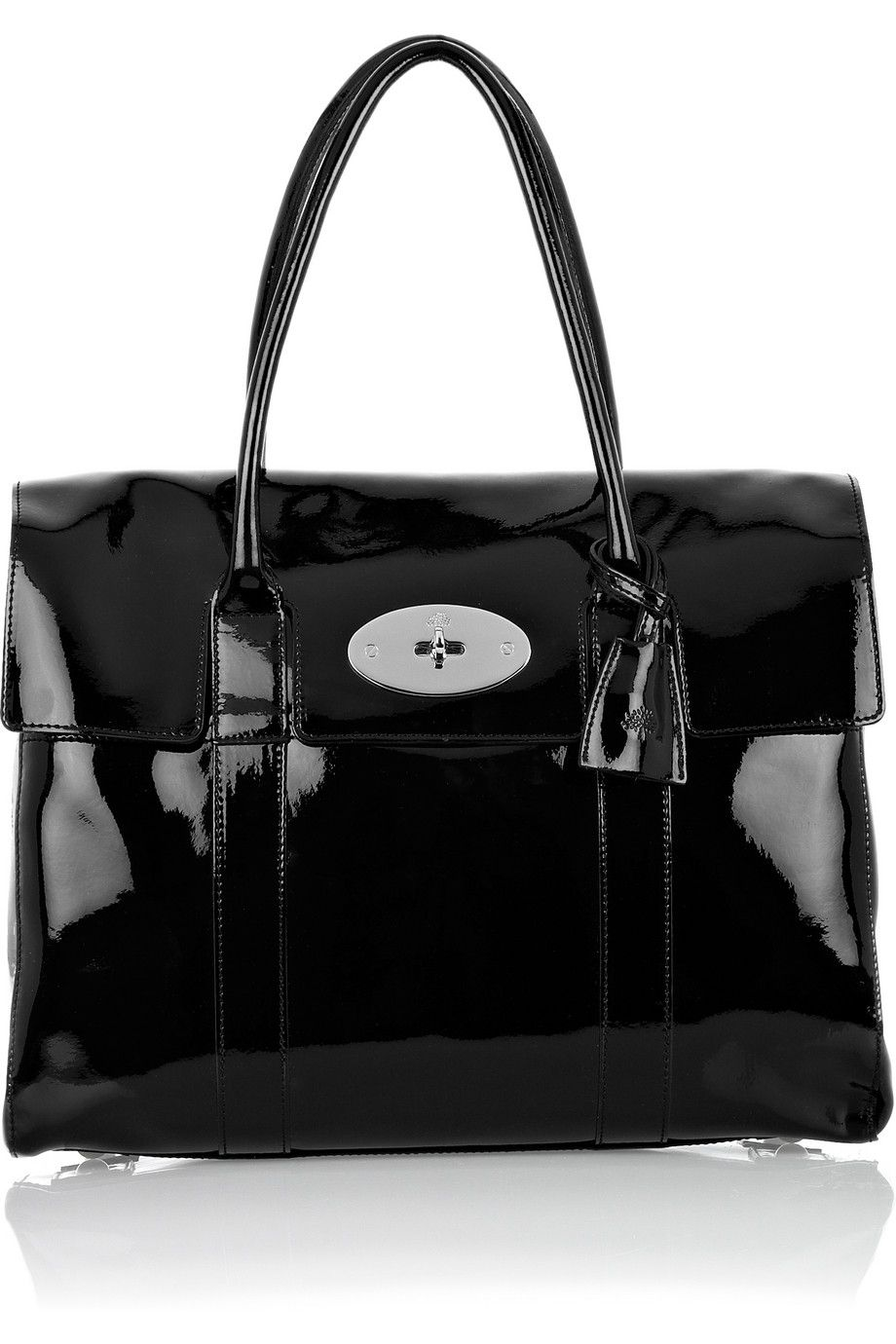 c93fcfec1f MULBERRY Bayswater patent-leather laptop bag