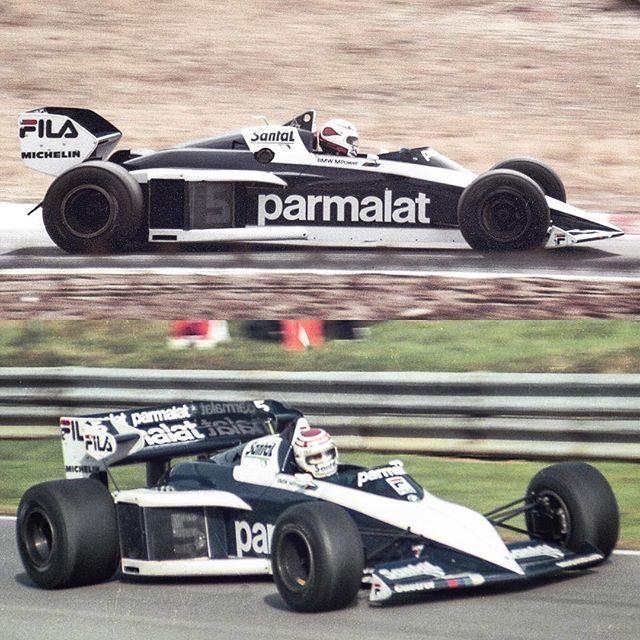 German Grand Prix at Hockenheim and European at Brands Hatch in 1983 #NelsonPiquet #Brabham #BT52