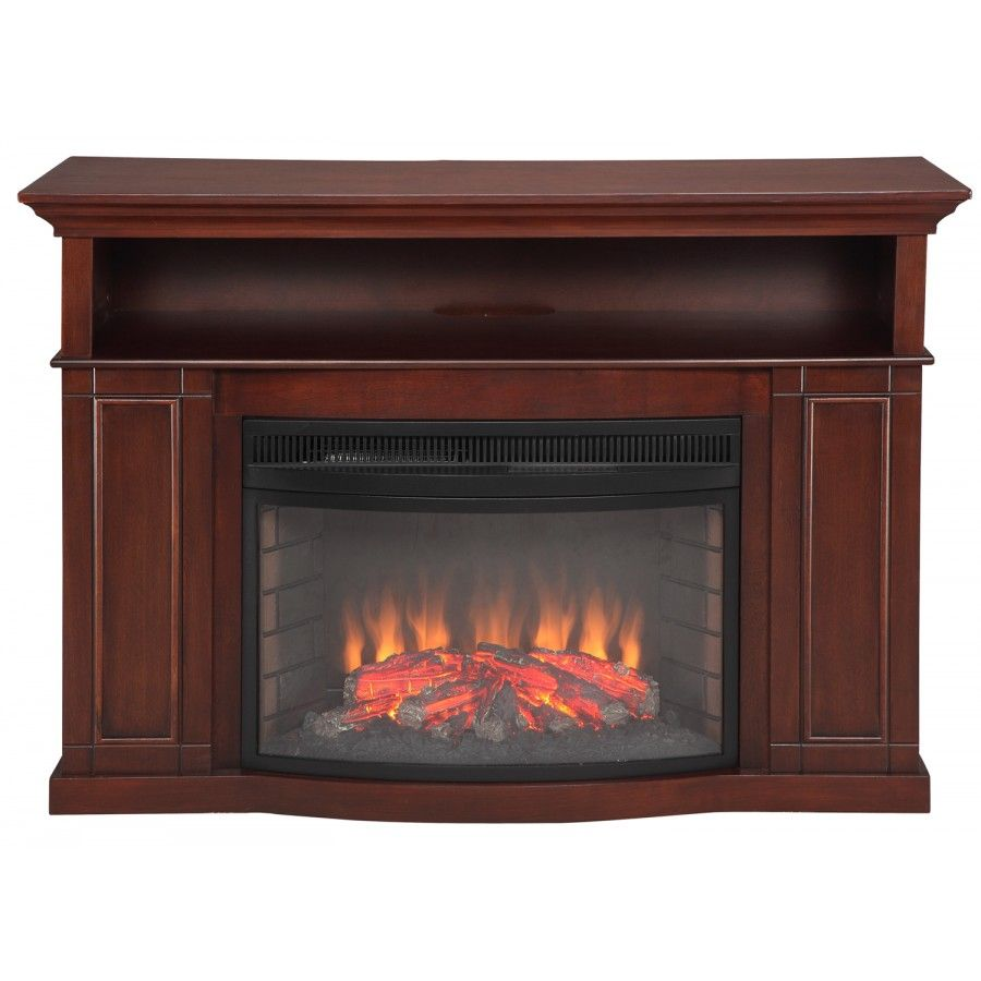 Fireplace amp tv stand in premium cherry finish with 23ef025gra electric - Muskoka Sheppard Electric Fireplace In Cherry Mtvsc2593sch Tv Stand