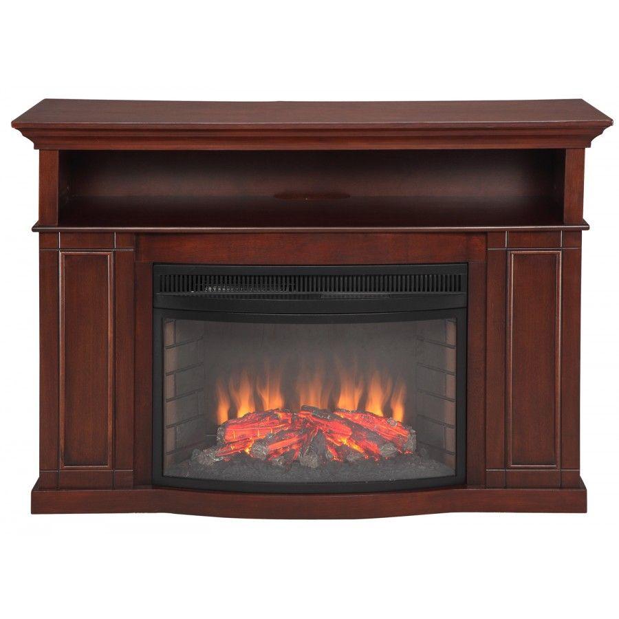 Muskoka Sheppard Electric Fireplace In Cherry Mtvsc2593sch Media Electric Fireplace Electric Fireplace Fireplace