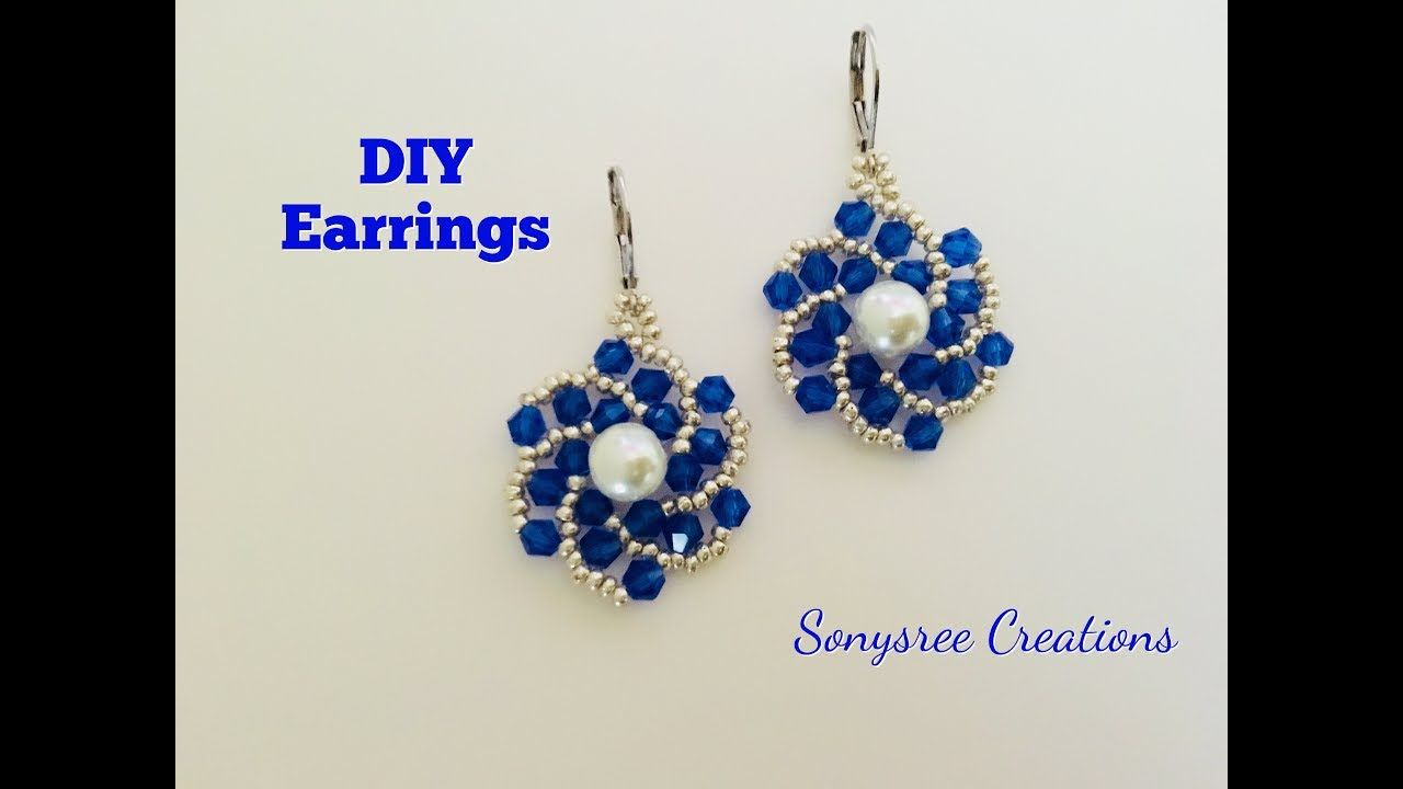 Easy to make beaded Earrings.Begginers project - YouTube   beads ...